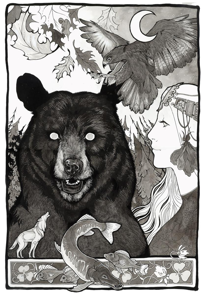 Волк и медведь открытки